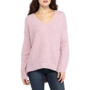 Free People Lofty Pullover Sweater Purple